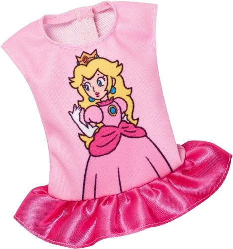 Imagem 1 de 4 de Barbie Fashion Pack Blusinha Super Mario Rosa Peach