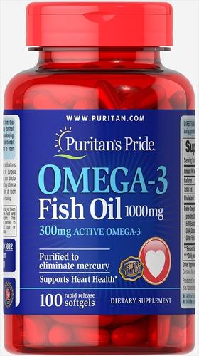 Omega 3 Fish Oil 1000 Mg De 100 Cap - Unidad a $699