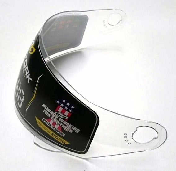 Viseira Capacete Pro Tork Liberty 4 Four Fechado Cristal 2mm