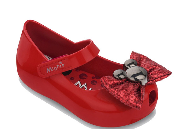 Sapatilha Minnie Barbie Para Bebês Grendene Kids 17/25 Original Sapato Infantil Calçado Vermelho Tema Festa Minnie