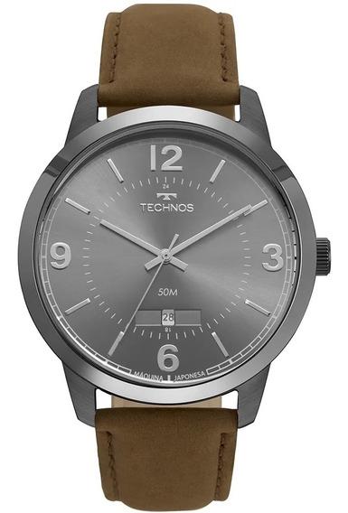 Relógio Masculino Technos Marrom 2115mte/2c