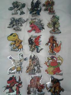 Digimon Stickers De Coleccion Juego De 15 Modelos
