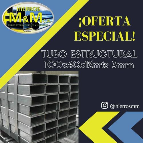 Tubos Oferta 100x40x12mts 3mm