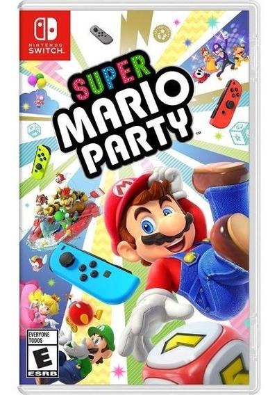 Jogo Game Nintendo Switch Super Mario Party Mídia Física