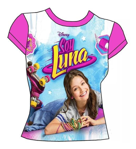 Soy Luna - Polera Manga Corta Rosada Luna - Cartersitos