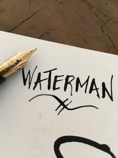 Pluma Fuente Vintage Waterman Con Punta Flexible
