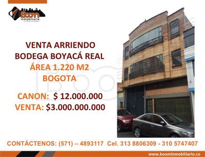 **arriendo Venta Bodega 1.220 M2 Boyaca Real