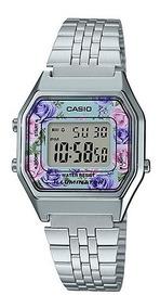 Relógio Casio Feminino La680wa-2cdf Prata Original