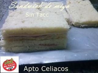 Sandwich De Miga Sin Tacc-apto Celiacos-envios Z Oeste