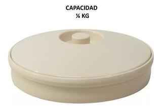 12 Tortilleros Tipo Plastico De Melamina Beige 1/4kg C/envío