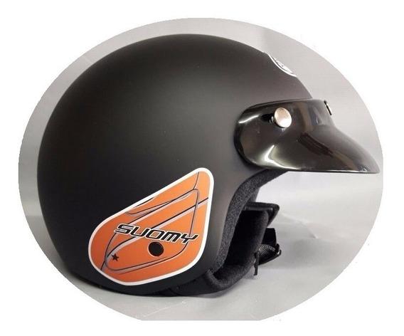 Casco Abierto Moto Scooter Suomy Fun Super Liviano Y Comodo