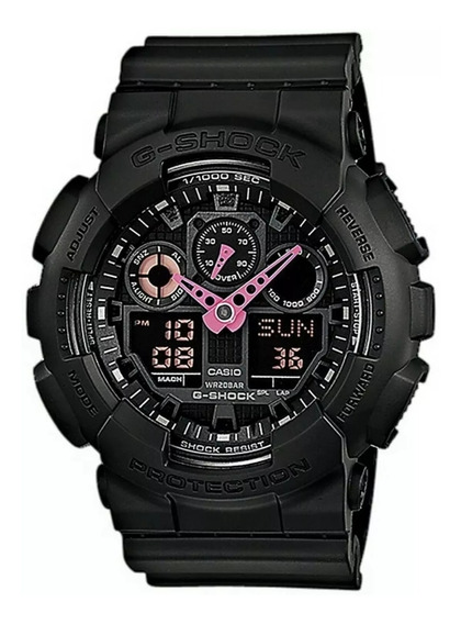 Reloj Casio G-shock Ga100c-1a4, Negro-rosa