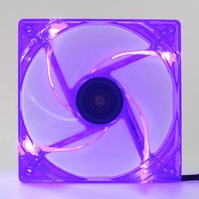 Cooler Fan Pc Gamer 120mm Led Roxo Ventoinha Dx-12l