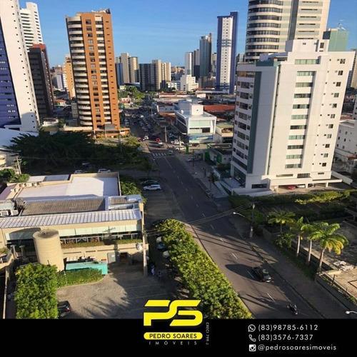 Apartamento Com 3 Dormitórios À Venda, 110 M² Por R$ 530.000 - Manaíra - João Pessoa/pb - Ap3242