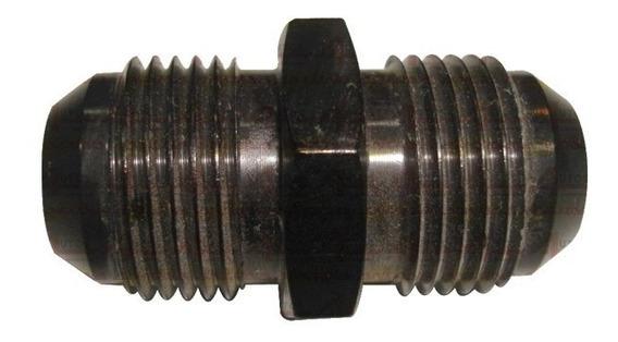 Niple De Aluminio Mangueira Rosca 10an X 10an