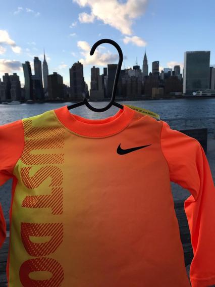 Playera Nike Kids Just Do It Ml 76b319 Original Oferta