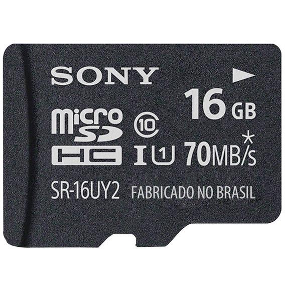 Cartão Memória 16gb C/ Adaptador Classe10 Sra-a1c1016gb Sony