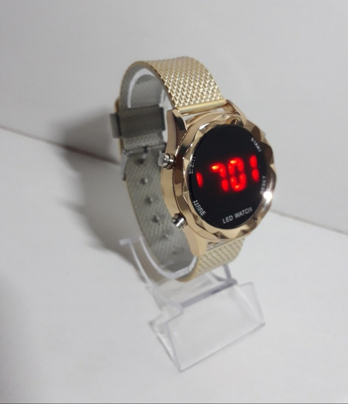 Relógio Digital Feminino Emborrachado Melhor Preço
