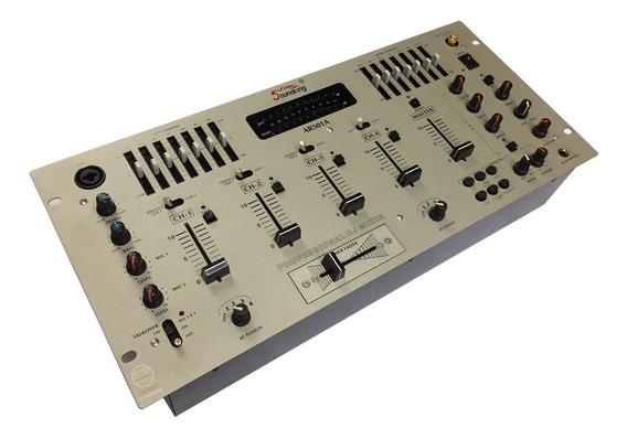 Mixer Dj 4 Canais Efeito Eq Soundking Ar501a Com Nf Garantia