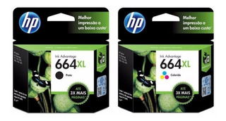 Combo Cartuchos Hp 664xl Negro Color Originales Fact A