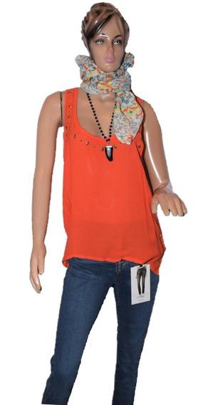 Maria Cher Musculosa De Gasa Color Naranja Mod Farrell