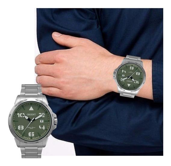 Relógio Masculino Orient Prateado Original Mbss1195a E2sx