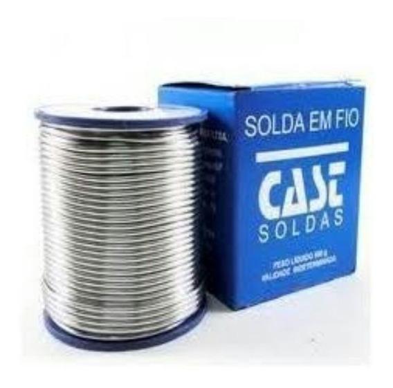 Solda Estanho 1,0mm Rolo 500g 60/40 Azul Cast