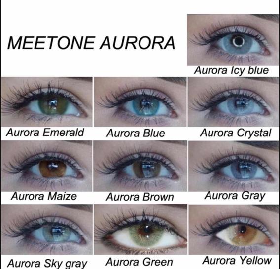 Pupilentes Meetone Aurora Con Estuche Dupe Solotica