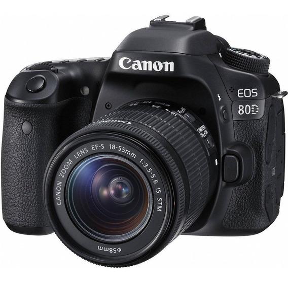 Camera Canon 80d Semi Nova Com Lente 18-55mm