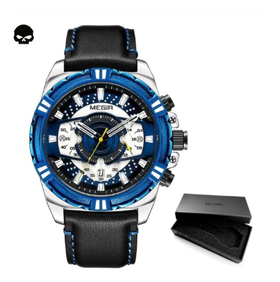 Relógio Masculino Megir 2118g Cronógrafo Funcional Original