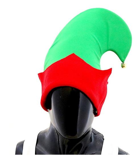 Gorro Duende Verde/rojo Con Cascabel