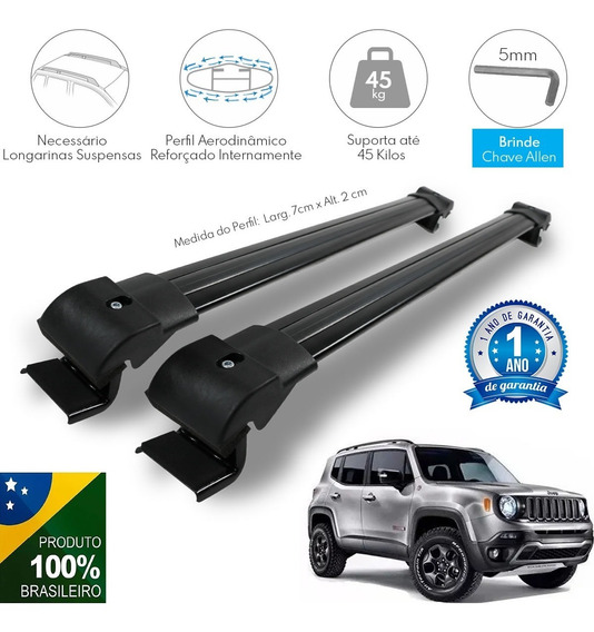 Travessa Rack Teto Jeep Renegade Limited 2019 2020 2021