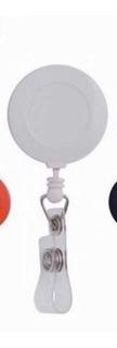 10 Pzs Yoyó Porta Gafete Credenciales Color Blanco Eventos