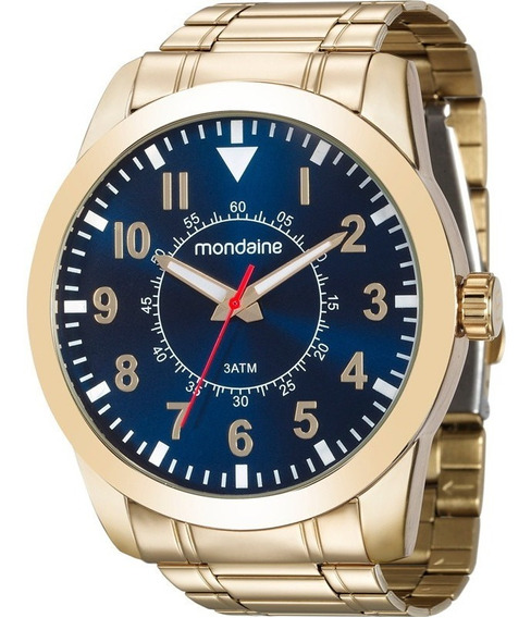 Relógio Mondaine Masculino Dourado - 99138gpmvde2
