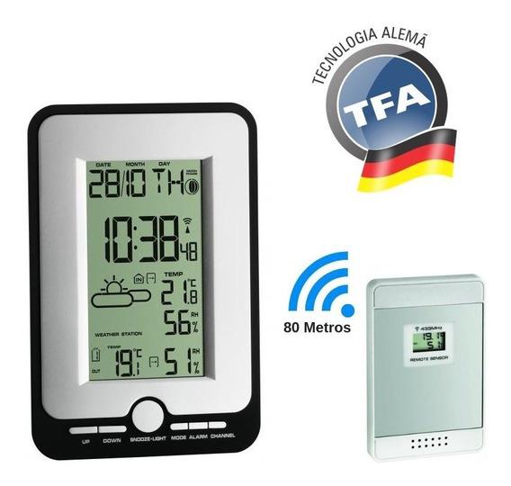 Estação Meteorológica Alemã Digital Transmissor Sem Fio Tfa