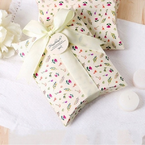 10 Pcs Floral Candy Box Estuche Plegable Para Galleta