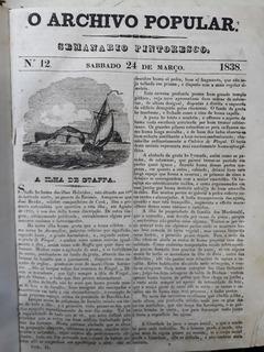 Jornal Antigo 1838 O Archivo Popular Coleção Encadernado.