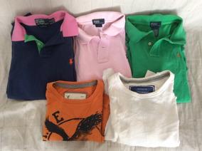 Lote 3 Camisa Polo Ralph L. Y 2 Playera A. Eagle Originales