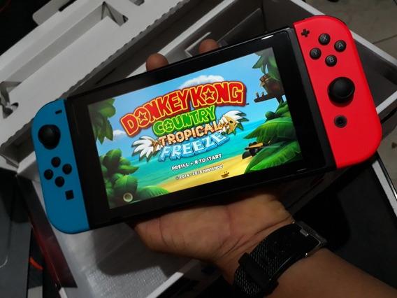 Nintendo Switch Desbloqueado Sd 128gb E Dongle Interno