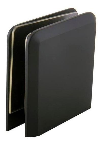 Clip Biselado Muro-vidrio Crlaurence Negro