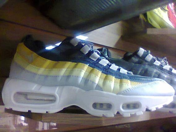 Tenis Nike Air Max 95 Azul E Amarelo Nº38 Ao 43 Original
