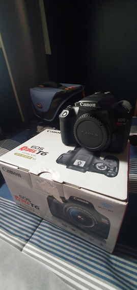 Câmera Eos Rebel T6 Canon - Pouquíssimo Uso + Bolsa Modular