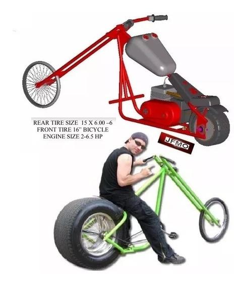 A Motocicleta Choper Da Bicicleta Dos Projetos Constrói