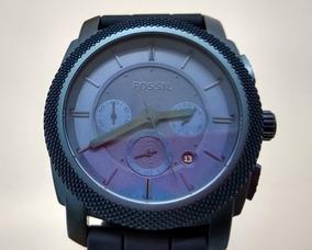 Relógio Fossil Cronografico Analogico Azul Diametro 46mm
