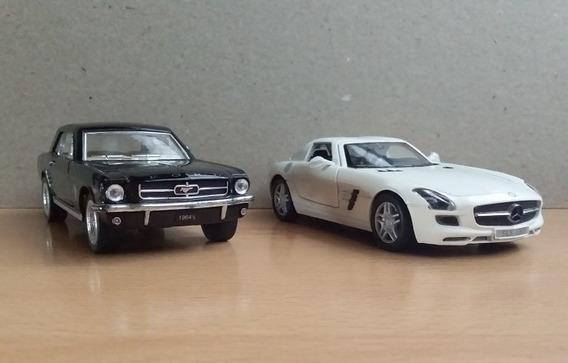 Mercedes Benz Sls Amg Escala 1/36 Y Mustang 1964