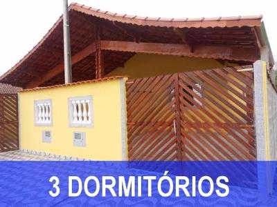 Casa Em Mongaguá 3 Dormitórios Pertinho Da Praia, Financie