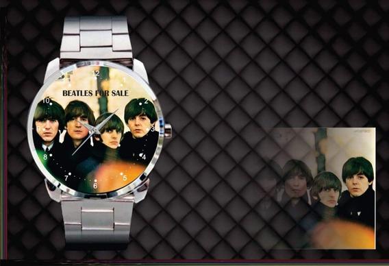 Relógio De Pulso Personalizado Banda Beatles For Cod.bsrp022