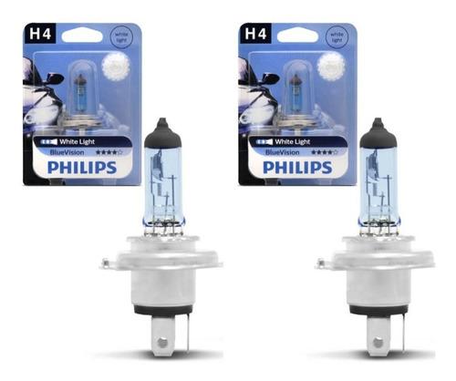 Kit Com 02 Lâmpadas H4 Philips Blue Vision - White Light