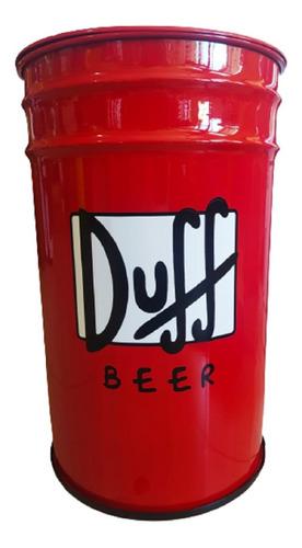 Imagem 1 de 6 de Tambor Lixeira Decorativa Duff Tonel Casa Decoração