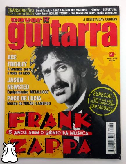 Revista Cover Guitarra Ano 4 N° 50 Frank Zappa Ace Frehley